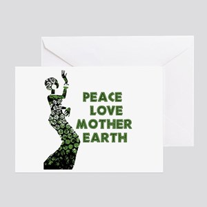 Peace Love Mother Earth Greeting Card