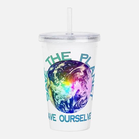 Rainbow Planet Acrylic Double-wall Tumbler