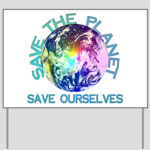 Rainbow Planet Yard Sign