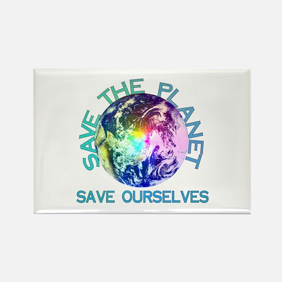 Rainbow Planet Rectangle Magnet (100 pack)