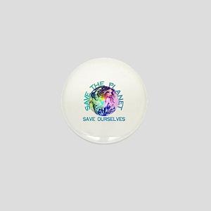 Rainbow Planet Mini Button