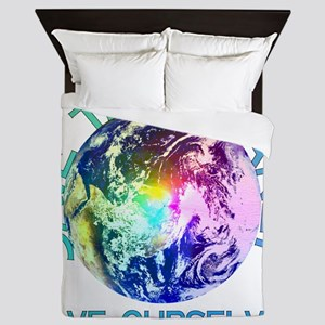 Rainbow Planet Queen Duvet