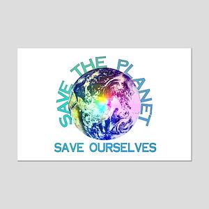 Rainbow Planet Mini Poster Print