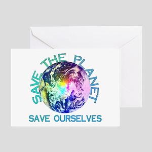 Rainbow Planet Greeting Card
