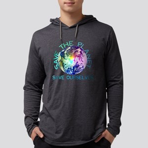 Rainbow Planet Mens Hooded Shirt