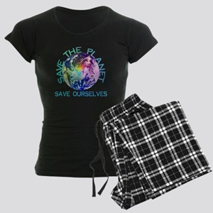 Rainbow Planet Women's Dark Pajamas