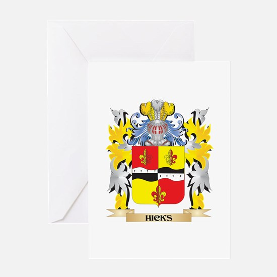 Hicks- Coat of Arms - Family Crest Greeting Cards