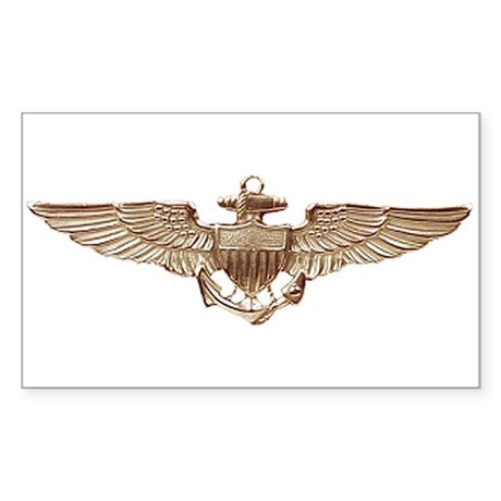Wings of Gold Rectangle Sticker