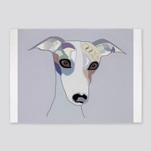 Whippet in Denim Colors 5'x7'Area Rug