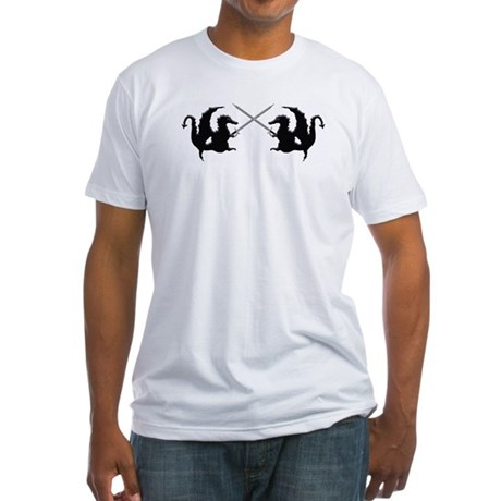 Fencing Dragons Fitted T-Shirt