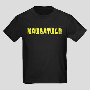 Naugatuck Faded (Gold) Kids Dark T-Shirt