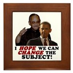 Obama Hopes to Change Framed Tile