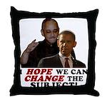 Obama Hopes to Change Throw Pillow