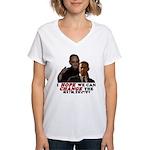 Obama Hopes to Change Women's V-Neck T-Shirt