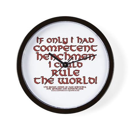 Funny Henchman Joke Wall Clock