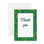 Lovely ornate thank you card blank inside