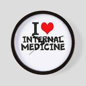I Love Internal Medicine Wall Clock