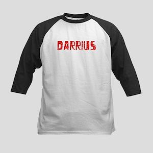 Darrius Faded (Red) Kids Baseball Jersey