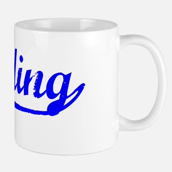 Vintage Reading (Blue) Mug
