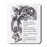 Alice in wonderland mad hatter Mouse Pads