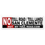 No Toll Road Lanes San Clemente 50 Bumper Sticker