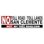 No Toll Road Lanes San Clemente Bumper Sticker
