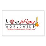 Love Aflame! Rectangle Sticker