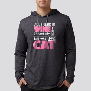 All I Need Is Wine & My Cat T Long Sleeve T-Shirt