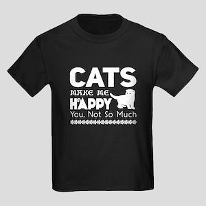 Cats Make Mr Happy T Shirt T-Shirt