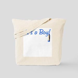 Baby: It's a Boy! Crayon Tote Bag