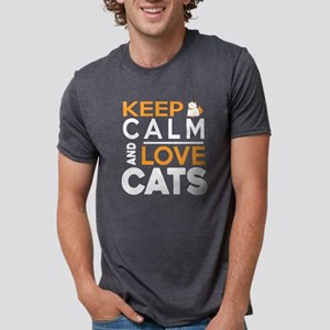 Keep Calm And Love Cats T Shirt T-Shirt