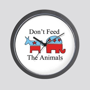 Don't feed the animals ~  Wall Clock
