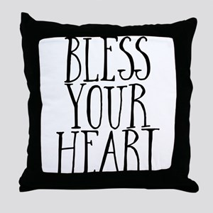 Sourthern Bless Your Heart Throw Pillow