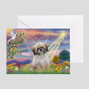 Cloud Angel & Shih Tzu Greeting Card