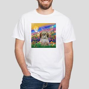 Guardian Angel & Shih Tzu White T-Shirt