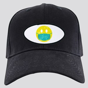 Smiley Nurse Medical Funny Nu Black Cap with Patch