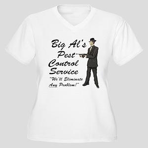 Big Al's Pest Control Service Women's Plus Size V-