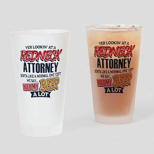 Redneck Attorney Drinking Glass