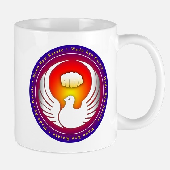 Wado Ryu Dove and Fist Mug