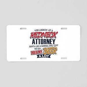 Redneck Attorney Aluminum License Plate
