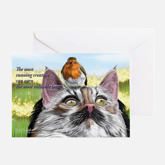 Superb cute Norwegian forest cat Greeting Card