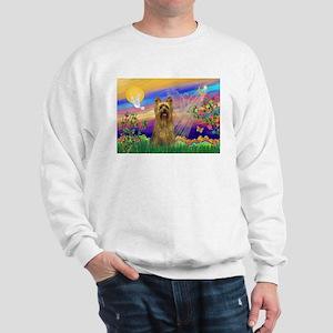 Guardian Angel Silky Terrier Sweatshirt