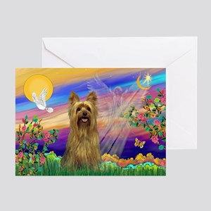 Guardian Angel Silky Terrier Greeting Cards (Pk of