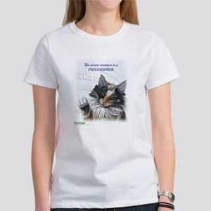 Ideal cat gift wise skogkatt Women's T-Shirt