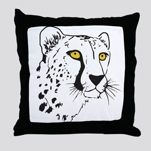 Silhouette Cheetah Throw Pillow