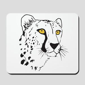 Silhouette Cheetah Mousepad