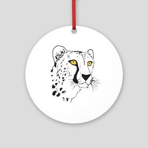 Silhouette Cheetah Ornament (Round)