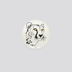 Silhouette Cheetah Mini Button