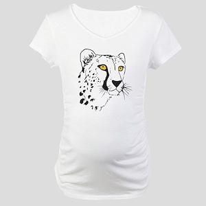 Silhouette Cheetah Maternity T-Shirt