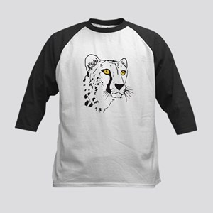 Silhouette Cheetah Kids Baseball Jersey